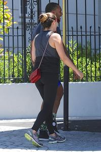 Kelly Brook booty in tights at a gym in West Hollywood 07-07-2014 (mixed Q)