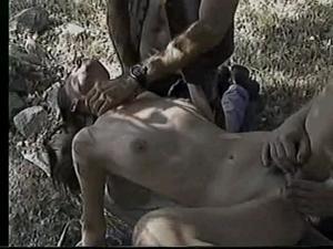 Brunette raped by hellangels